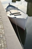 Boat inside the canal Royalty Free Stock Images