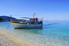 Boat in Ionian islands Greece Stock Image