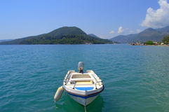Boat in Ionian sea,Greece Royalty Free Stock Images