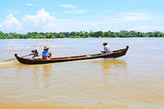 Boat On The Irrawaddy River, Mandalay, Myanmar Royalty Free Stock Images