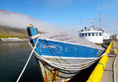 Boat in Isafjordur. Boat in the port of Isafjordur Stock Images