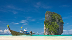 Boat and island Stock Image