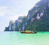 Boat and islands Royalty Free Stock Images