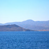 From the boat  islands in mediterranean sea and sky Royalty Free Stock Images