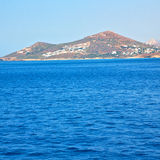 From the boat  islands in mediterranean sea and sky Stock Images