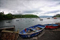 Boat in the isle of skye Royalty Free Stock Images