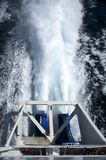 Boat jet engine Stock Image