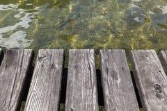 Boat jetty. A boat jetty at the beautiful Hallstatter lake Royalty Free Stock Photo