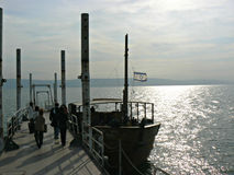 Boat jetty - Sea of Galilee Royalty Free Stock Images