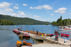 Boat jetty for trips Bowness on Windermere Lake District Cumbria England uk Stock Images