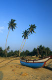 Boat on Kalutara  beach Sri Lanka Royalty Free Stock Image