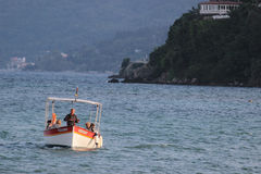 Boat in Kanoni, Corfu Stock Photography