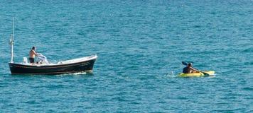 Boat and kayak Stock Image