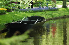 Boat in Keukenhof Royalty Free Stock Photo