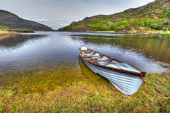 Boat at the Killarney lake. Boat on the Killarney lake, Co. Kerry in Ireland Royalty Free Stock Photos