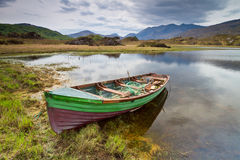 Boat at the Killarney lake Stock Photography