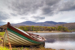 Boat at the Killarney lake in Ireland Royalty Free Stock Images
