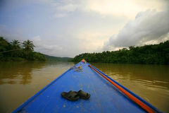Boat in Koh Kong. Boat on a river in Koh Kong province, Cambodia, 2010 Royalty Free Stock Photo