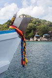 Boat in Koh Nangyuan island in Thailand Royalty Free Stock Photo