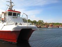 Boat in Kosterhavet nationalpark Royalty Free Stock Photos
