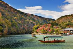 Boat in Kyoto, Japan Royalty Free Stock Images
