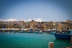 Boat in La Valletta Malta Stock Photography