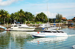 Boat Lagoon Marina and yachts Royalty Free Stock Photography