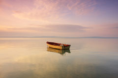 Boat on the lake Stock Image