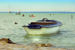 Boat on lake Royalty Free Stock Image