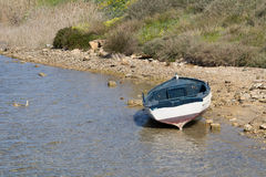 Boat on the lake Royalty Free Stock Images