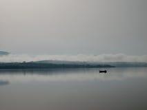 Boat on the lake. Photo taken at the lake in Frydman Stock Image