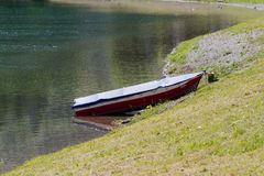 Boat on lake. A boat on the lake Stock Photos