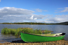 Boat at a lake Stock Photography