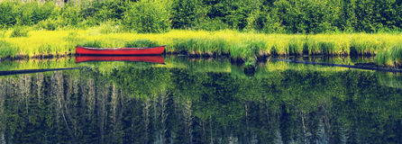 Boat on lake. Boat on a lake Royalty Free Stock Image