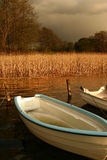 Boat on a lake Royalty Free Stock Images