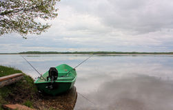 Boat on the lake Royalty Free Stock Photos