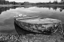 Boat on the lake Stock Images