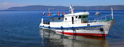 Boat. Lake Baikal. Royalty Free Stock Photography