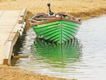 The boat on the lake Stock Photography