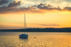 Boat in lake. Royalty Free Stock Images