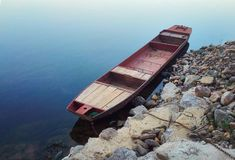 The boat at the lake stock photography