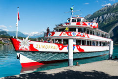 Boat on Lake Brienz - Switzerland Royalty Free Stock Photo