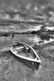 Boat at lake Chiemsee Stock Photo