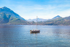 A boat in Lake Como, Italy. Stock Image