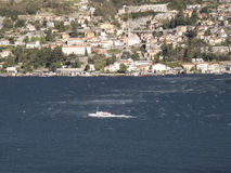 Boat on the Lake of Como Royalty Free Stock Image