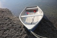 Boat on Lake Constance at Radolfzell Royalty Free Stock Images