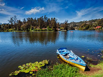 Boat in lake Royalty Free Stock Images