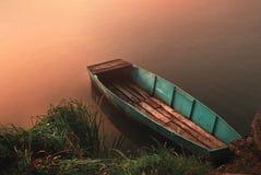 Boat on lake. Fishing boat on the lake Stock Image