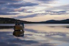 Boat on lake Funasdalssjon Royalty Free Stock Photos