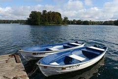 Boat at lake Galve in Trakai Royalty Free Stock Image